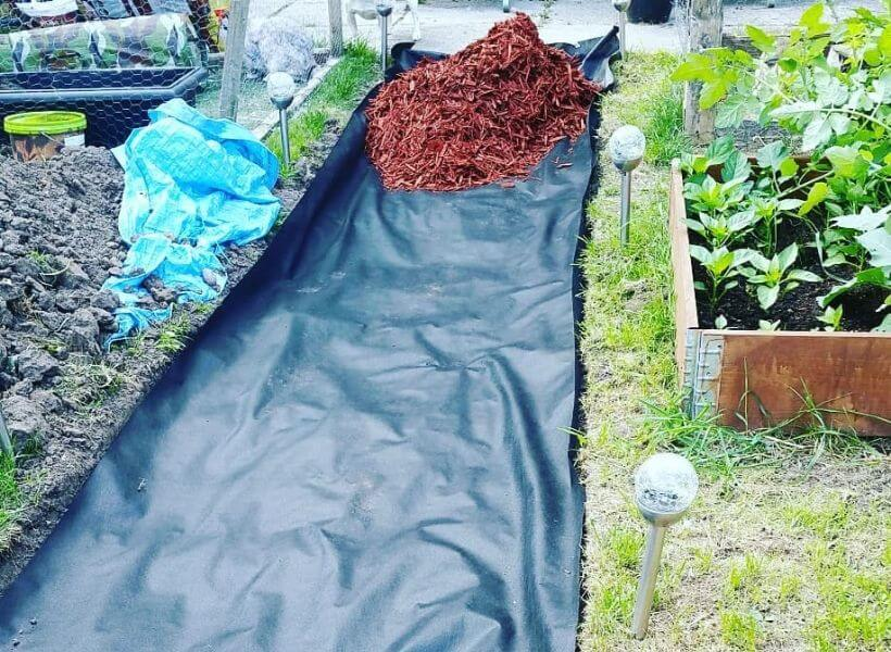 How To Place A Weed Barrier Under Mulch